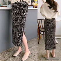 Pencil Skirts Leopard Patterns Casual Style Long Maxi Skirts