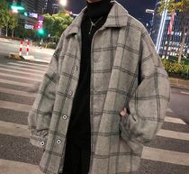 Gingham Other Plaid Patterns Wool Street Style Oversized