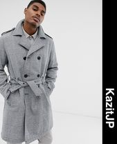 ASOS Other Check Patterns Street Style Trench Coats