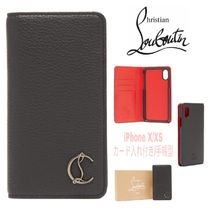 Christian Louboutin Unisex Blended Fabrics Plain Leather Smart Phone Cases