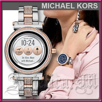 Michael Kors Unisex Round Stainless With Jewels Elegant Style