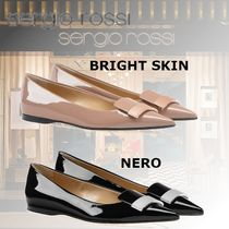 Sergio Rossi Plain Leather Ballet Shoes