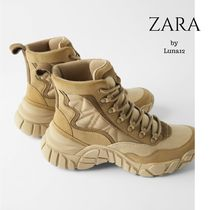 ZARA Mountain Boots Casual Style Chunky Heels Outdoor Boots