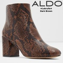 ALDO Casual Style Blended Fabrics Street Style Block Heels Python