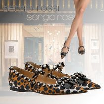 Sergio Rossi Leopard Patterns Ballet Shoes
