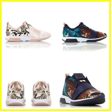 Flower Patterns Round Toe Rubber Sole Casual Style