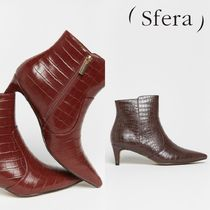 Sfera Casual Style Block Heels Boots Boots