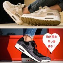 Nike AIR MAX 90 Casual Style Blended Fabrics Leather Python Low-Top Sneakers