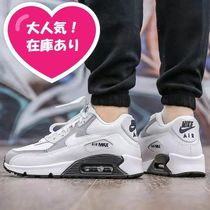 Nike AIR MAX 90 Casual Style Blended Fabrics Leather Low-Top Sneakers