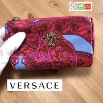 VERSACE Unisex Nylon Leather Wallets & Small Goods