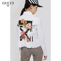 Off-White Long Sleeves Cotton Shirts & Blouses