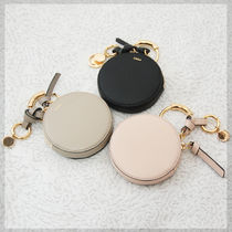 Chloe ALPHABET Plain Leather Small Wallet Coin Cases