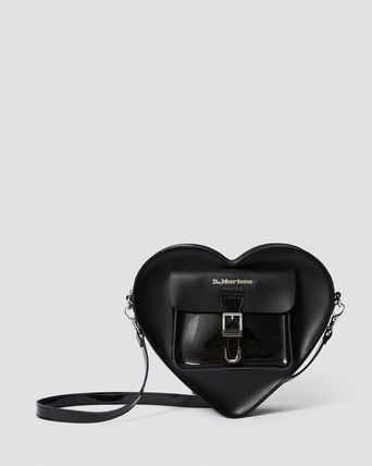 Heart Casual Style Street Style 2WAY Plain Leather Logo