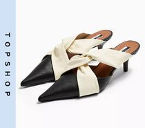 TOPSHOP Casual Style Leather Pumps & Mules
