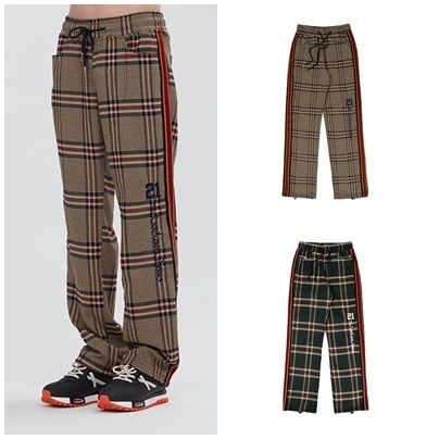 Other Check Patterns Unisex Street Style Pants