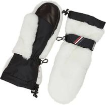 MONCLER GRENOBLE Stripes Plain Leather Leather & Faux Leather Gloves