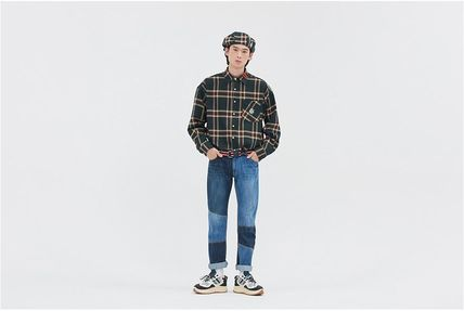 ROMANTIC CROWN Shirts & Blouses Other Check Patterns Casual Style Unisex Street Style 15