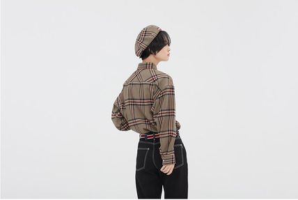 ROMANTIC CROWN Shirts & Blouses Other Check Patterns Casual Style Unisex Street Style 6