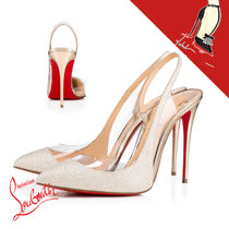 Christian Louboutin Leather Pin Heels Party Style PVC Clothing Elegant Style