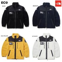 THE NORTH FACE Unisex Wool Street Style Plain Long Windbreaker Bold Jackets