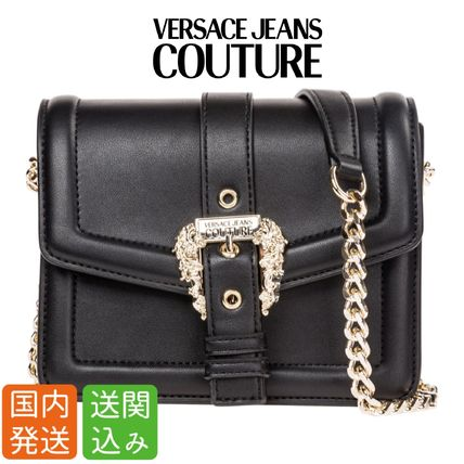 Casual Style Chain Plain Shoulder Bags