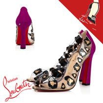 Christian Louboutin Leopard Patterns Casual Style PVC Clothing