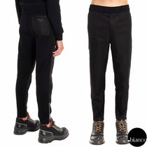 PRADA Sweat Nylon Blended Fabrics Plain Cropped Pants