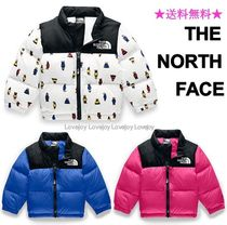 THE NORTH FACE Nuptse Unisex Blended Fabrics Street Style Baby Girl Outerwear