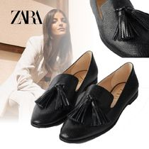ZARA Tassel Other Animal Patterns Loafer & Moccasin Shoes