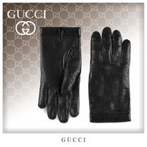 GUCCI Unisex Leather Leather & Faux Leather Gloves