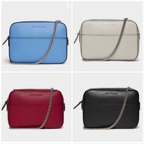 J & M Davidson Calfskin 2WAY Chain Plain Shoulder Bags