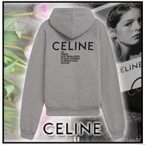 CELINE Short Street Style Long Sleeves Cotton Cropped