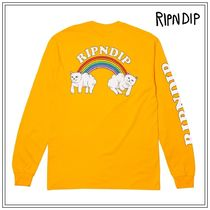RIPNDIP Crew Neck Unisex Street Style Long Sleeves Cotton