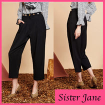 Sister Jane Studded Plain With Jewels Cropped & Capris Pants
