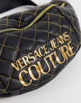 VERSACE JEANS Casual Style Unisex Faux Fur Street Style Logo Hip Packs