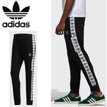 adidas Printed Pants Casual Style Unisex Sweat Street Style Cotton
