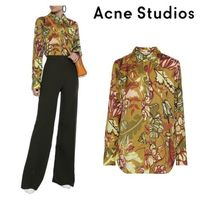 Acne Flower Patterns Long Sleeves Shirts & Blouses