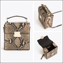 Uterque Vanity Bags 2WAY Leather Python Elegant Style Shoulder Bags