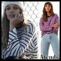 AFENDS Linen Street Style Long Sleeves Plain Cotton Oversized