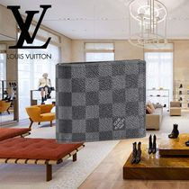 Louis Vuitton DAMIER GRAPHITE Leather Folding Wallets