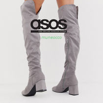 boohoo Casual Style Plain Over-the-Knee Boots