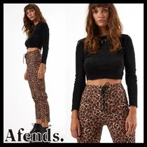 AFENDS Leopard Patterns Casual Style Street Style Cotton Medium