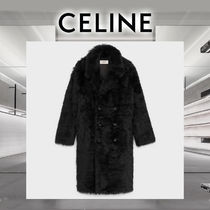 CELINE Fur Plain Long Shearling Coats