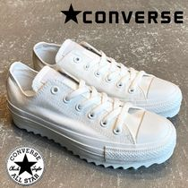 CONVERSE ALL STAR Lace-up Casual Style Unisex Plain Low-Top Sneakers