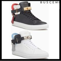 BUSCEMI Plain Leather Sneakers