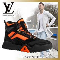 Louis Vuitton Mountain Boots Blended Fabrics Street Style Leather