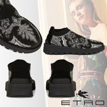 ETRO Paisley Rubber Sole Casual Style Low-Top Sneakers