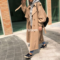 Plain Long Oversized Elegant Style Trench Coats