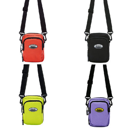 Unisex Street Style Plain Crossbody Bag Logo