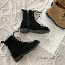 Mountain Boots Round Toe Casual Style Suede Street Style